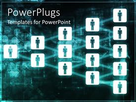 PowerPlugs: PowerPoint template with digital background with icons of people connected together