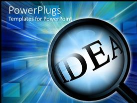 PowerPlugs: PowerPoint template with a digital background with a magnifying glass