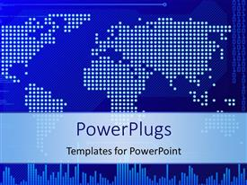 PowerPlugs: PowerPoint template with digital background with white dots forming world map and binary digits