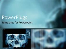 PowerPlugs: PowerPoint template with digital x ray of skull