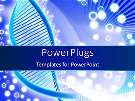 PowerPlugs: PowerPoint template with a DNA structure with white circles in the background
