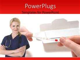 PowerPlugs: PowerPoint template with a doctor with white background and place for text