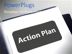 PowerPlugs: PowerPoint template with document with title page for the action plan