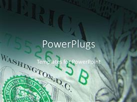PowerPlugs: PowerPoint template with dollar bills finances money income profit economy currency politics