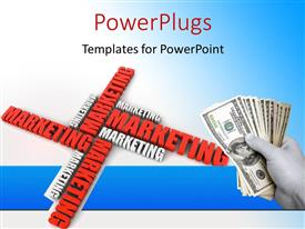 PowerPlugs: PowerPoint template with a dollar bundle with a number of words