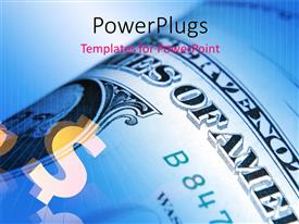 PowerPlugs: PowerPoint template with a dollar note with a bluish background