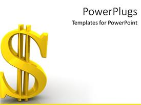 PowerPlugs: PowerPoint template with dollar sign bills finances economy global currency upper class lower class