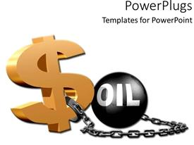 PowerPlugs: PowerPoint template with dollar sign with oil ball and chain