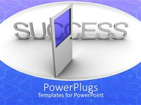 PowerPlugs: PowerPoint template with a door with success behind it
