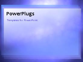 PowerPlugs: PowerPoint template with drifting clouds changing shapes, blue sky