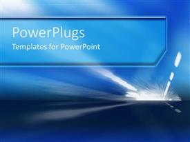 PowerPlugs: PowerPoint template with driving at night street lights blue sky