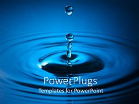 PowerPlugs: PowerPoint template with a drop of blue colord water making a water ripple