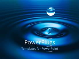 PowerPlugs: PowerPoint template with a drop of water with bluish background