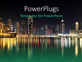 PowerPlugs: PowerPoint template with dubai Night Scene