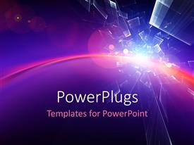 PowerPlugs: PowerPoint template with a number of colors with a lot of mirrors