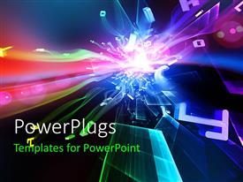 PowerPlugs: PowerPoint template with a colorful globe with a number of broken screens