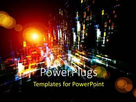 PowerPlugs: PowerPoint template with a number of colors in the background showing night life scene