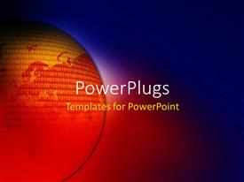 PowerPlugs: PowerPoint template with an earth globe on a blue background with binary numbers