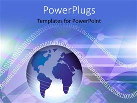 PowerPlugs: PowerPoint template with an earth globe and lots of binary numbers around it