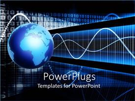 PowerPlugs: PowerPoint template with earth globe with pulse signals