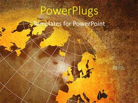 PowerPlugs: PowerPoint template with a globe with a lot of grains in the background