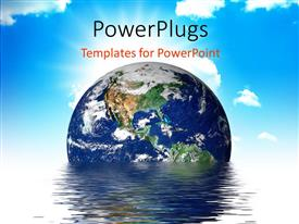 PowerPlugs: PowerPoint template with earth melting into a puddle showing the effects of global warming