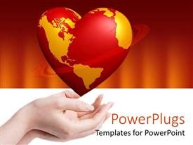 PowerPlugs: PowerPoint template with the Earth's mao turned into a heart