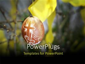 PowerPlugs: PowerPoint template with an Easter egg with a blur background