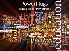 PowerPlugs: PowerPoint template with education studies word cloud inspiration students study read