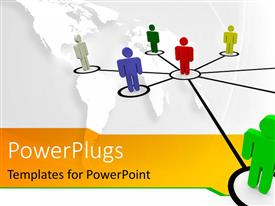 PowerPlugs: PowerPoint template with eight human figures joined with lines