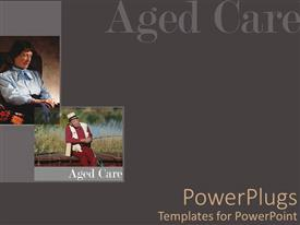 PowerPlugs: PowerPoint template with elderly man fishing, old woman in chair, aging, elder care, geriatrics, senior citizens