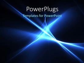 PowerPoint template displaying electric blue color high energy streaks with black color