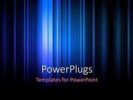 PowerPlugs: PowerPoint template with electric blue stripes on black background