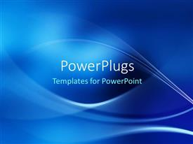 PowerPlugs: PowerPoint template with electric blue wave patterns on cobalt background