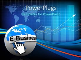 PowerPlugs: PowerPoint template with electronic business with mouse arrow on globe over world map