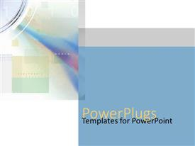 PowerPlugs: PowerPoint template with electronic media content words with pastel boxes, audio digital transfer metaphor