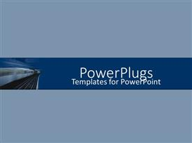 PowerPlugs: PowerPoint template with an electronic train on the move
