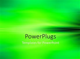 PowerPlugs: PowerPoint template with an Elegant Abstract Blurred Green Background