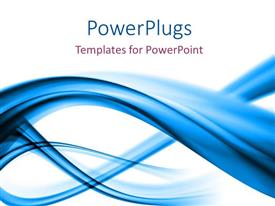 PowerPlugs: PowerPoint template with elegant blue curves with white color