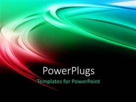 PowerPlugs: PowerPoint template with elegant colorful curves with black color