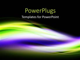 PowerPlugs: PowerPoint template with elegant colorful waves with black color