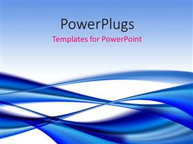 PowerPlugs: PowerPoint template with elegant dark blue flowing curves with white color