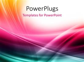 PowerPlugs: PowerPoint template with elegant multi color curves