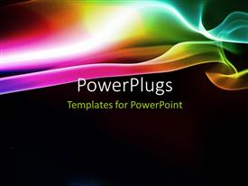 PowerPlugs: PowerPoint template with elegant puff of rainbow smoke with black color