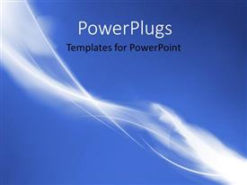 PowerPlugs: PowerPoint template with elegant smooth curves with blue color