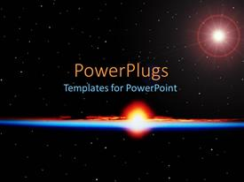 PowerPoint template displaying energy radiating out from exploding star