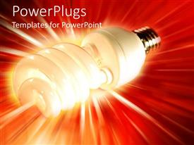 PowerPlugs: PowerPoint template with an energy savor with reddish background