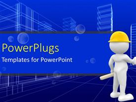 PowerPlugs: PowerPoint template with agreement reached as engineer shake hands with businessman in industrial area