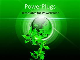 PowerPlugs: PowerPoint template with environment protection design with globe