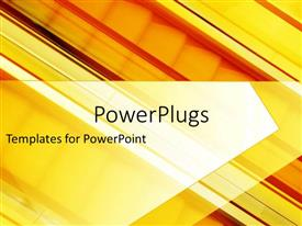 PowerPlugs: PowerPoint template with escalator in background of shades of orange and yellow